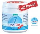 """Denttabs Zahnputztabletten  Fluorid -  125 Zahntabletten Stevia Mint""""    VEGAN"""