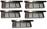 5 x Steri-Tray -  Box - Wash-Tray 6 er - Überlänge 21,5 cm  Steri-Kassette