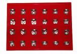 24 Kofferdam Klammern im SET 4 - Seidenmatt -Kofferdamklammern Rubber Dam Clamps
